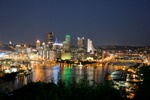 Pittsburgh City Lights Skyline