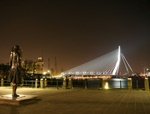 Earsmus Bridge Rotterdam City Lights