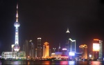 Shanghai City Lights Skyline
